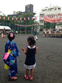 代々木小公園で盆踊り